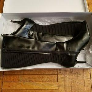 Calvin Klein Black Knee High Boots (New) - 8.5